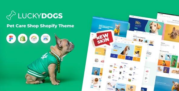 LuckyDogs - Pet Care Shop Shopify Theme