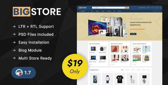BigStore - Online Mega Store Prestashop 1.7 Responsive Theme - Shopping PrestaShop