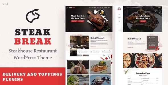 SteakBreak - Meat Restaurant WordPress Theme - Restaurants & Cafes Entertainment