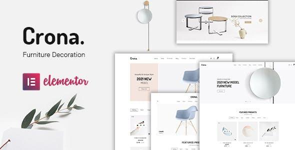 Crona   Furniture Decoration WooCommerce WordPress Theme