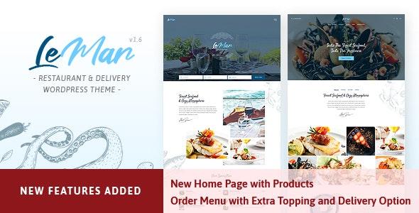 LeMar - Seafood Restaurant WordPress Theme - Restaurants & Cafes Entertainment