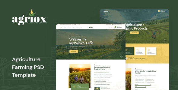 Agriox - Agriculture Farming PSD Template - Food Retail
