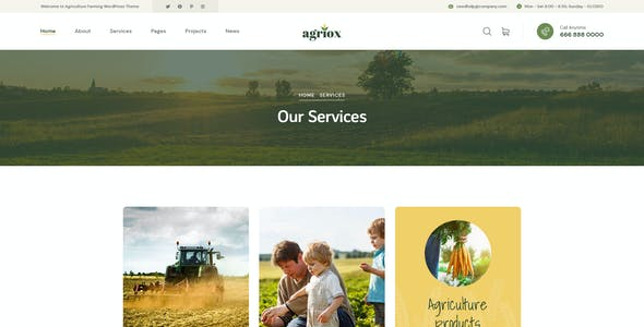 Agriox - Agriculture Farming PSD Template