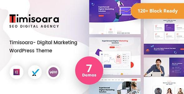 Timisoara - Digital Marketing WordPress Theme + RTL