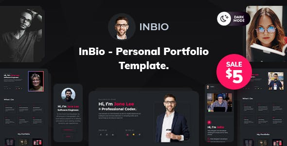 InBio - One Page Personal Portfolio Template
