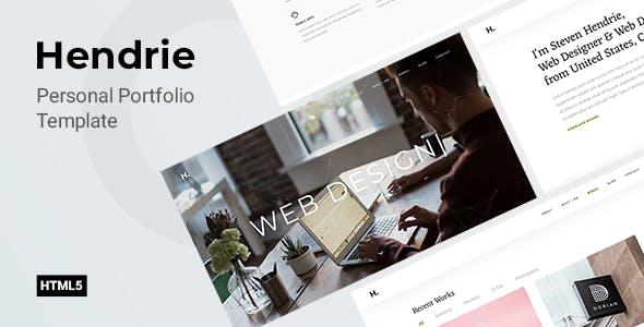 Hendrie - Personal Portfolio Template