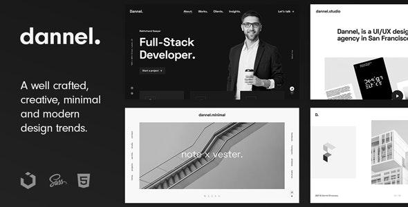 Dannel - Creative Portfolio & Agency Template - Portfolio Creative