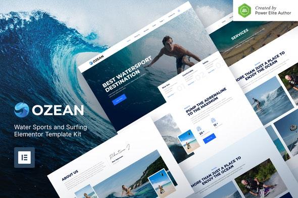 Ozean – Water Sports & Surfing Elementor Template Kit - Travel & Accomodation Elementor