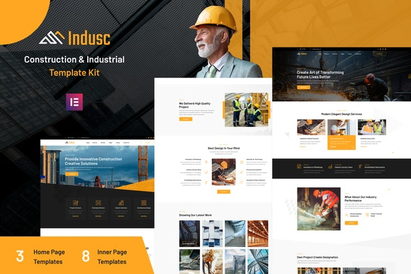 Indusc - Construction & Industrial Elementor Template Kit - Real Estate & Construction Elementor