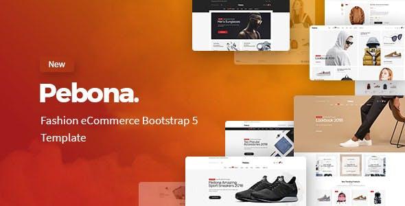 Pebona - Fashion Shop Website Template using Bootstrap