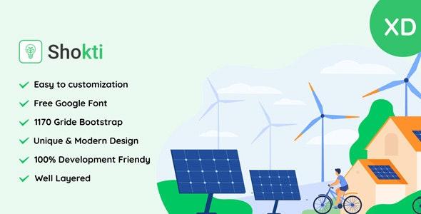 Sokti - Renewable Energy XD Template - Business Corporate