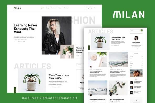 Milan - Blog & Magazine Elementor Template Kit - News & Magazines Elementor