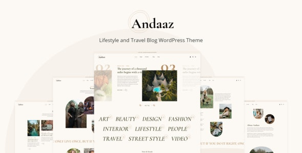Andaaz - Lifestyle and Travel Blog WordPress Theme - Personal Blog / Magazine