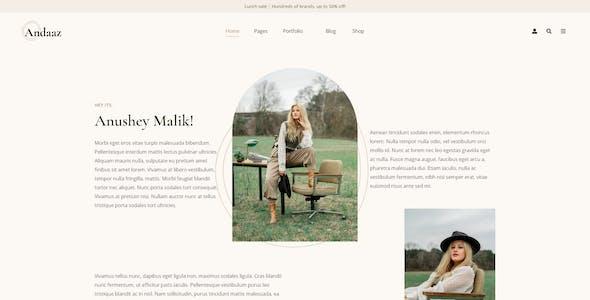 Andaaz - Lifestyle and Travel Blog WordPress Theme