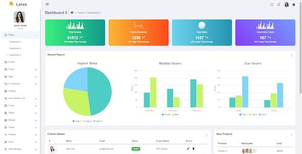 Lorax - Bootstrap 5 Material Design Admin Dashboard Template & UI Kit