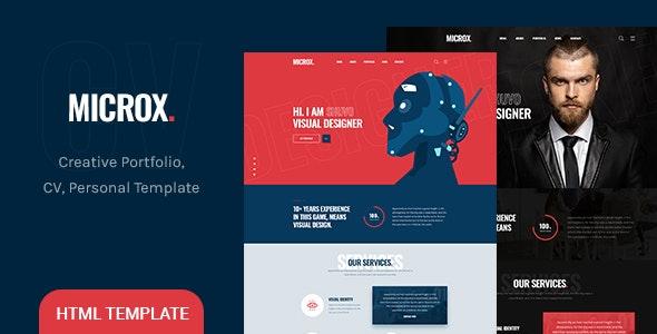 Microx - CV Resume and Personal Portfolio HTML5 Template - Portfolio Creative
