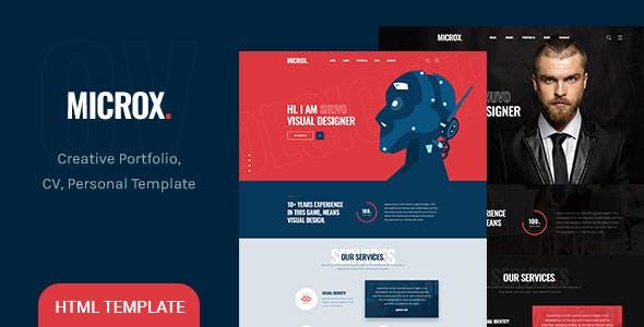 Microx - CV Resume and Personal Portfolio HTML5 Template