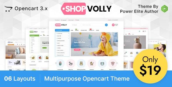 ShopVolly  - Multipurpose OpenCart 3 Theme For Kids & Toys - OpenCart eCommerce