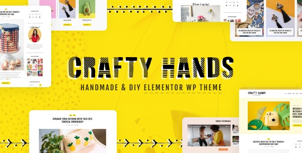 Crafty Hands - Arts & Workshop WordPress Theme - Personal Blog / Magazine