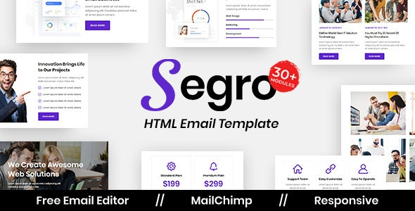 Segro Agency - Multipurpose Responsive Email Template - Newsletters Email Templates