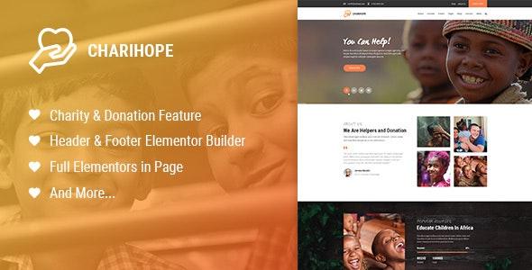 Charihope - Charity and Donation WordPress Theme - Charity Nonprofit