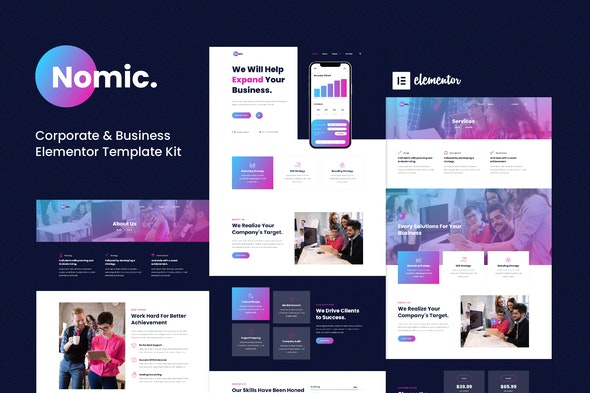 Nomic - Corporate & Business Elementor Template Kit - Business & Services Elementor