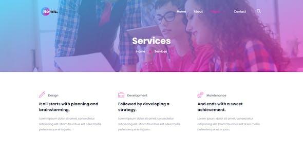 Nomic - Corporate & Business Elementor Template Kit