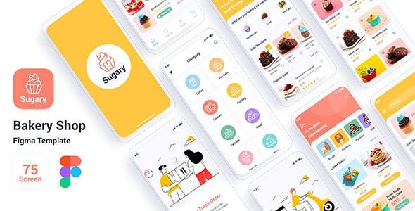 Sugary – Bakery Shop Figma Template