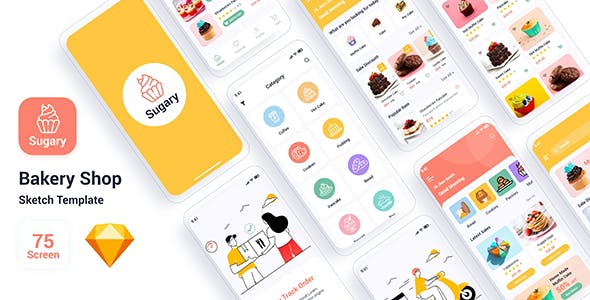 Sugary – Bakery Shop Sketch Template