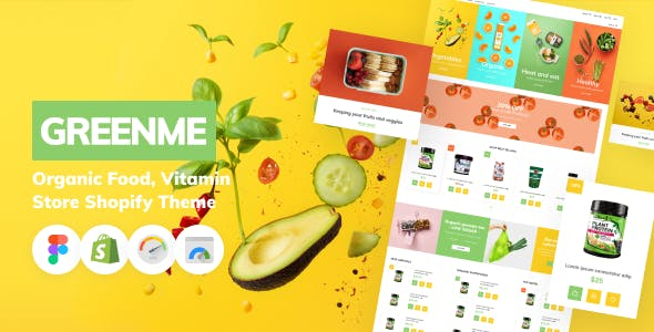 GreenMe - Organic Food, Vitamin Store Shopify Theme