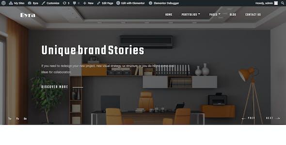 Byra - Creative Agency & Modern Portfolio Elementor Template Kit