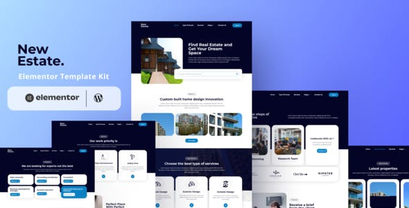 New Estate - Real Estate Elementor Template Kit