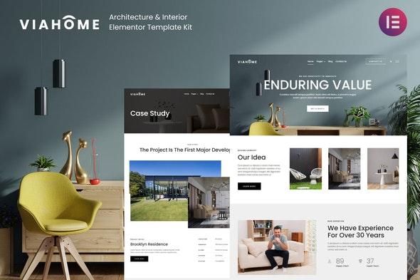 Viahome - Architecture & Interior Elementor Template Kit - Real Estate & Construction Elementor