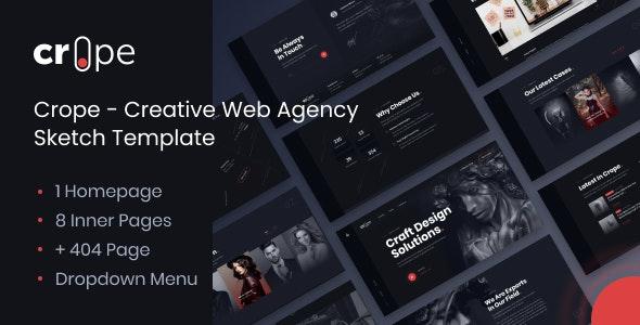 Crope - Creative Web Agency Sketch Template - Sketch UI Templates