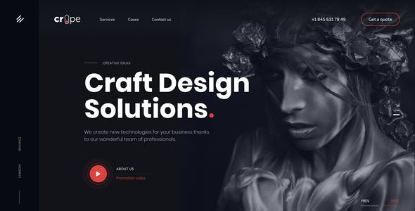 Crope - Creative Web Agency Sketch Template