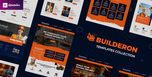 Builderon – Construction Elementor Template Kit