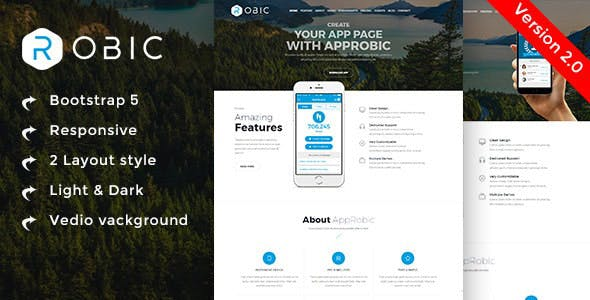 Multipurpose Landing Page Template - Robic