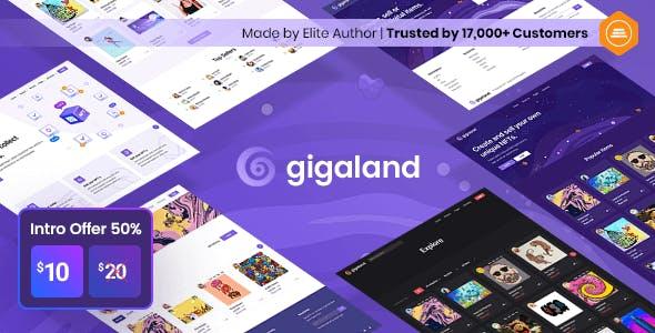 Gigaland - NFT Marketplace HTML Template