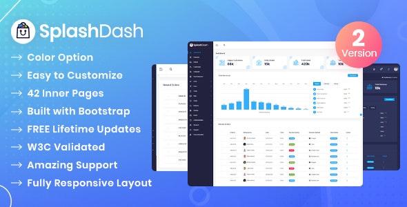 SplashDash - Admin Dashboard Html Template - Admin Templates Site Templates