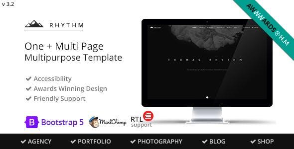 Rhythm - Multipurpose One/Multi Page Template