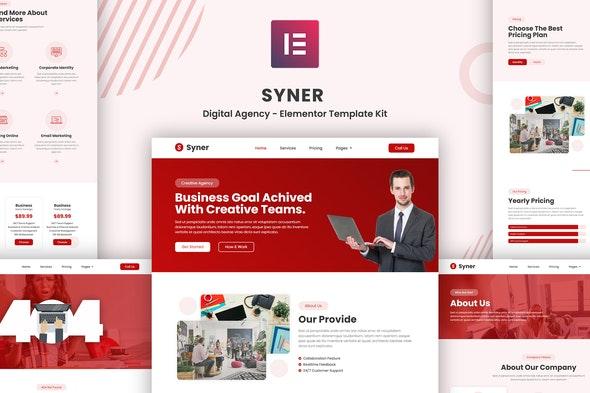 Syner - Creative Agency Elementor Template Kit - Creative & Design Elementor