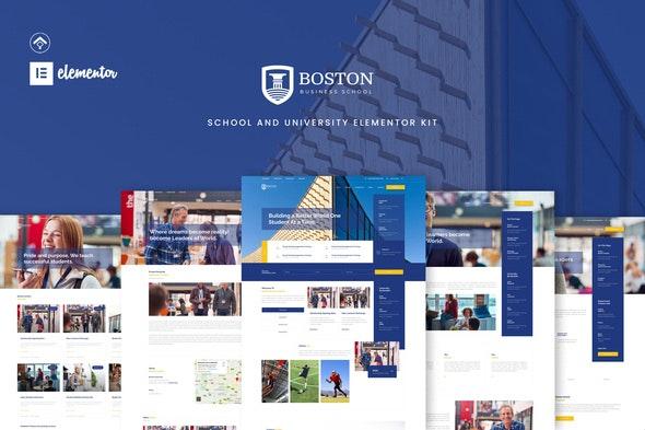 Boston - School & University Elementor Template Kit - Education Elementor