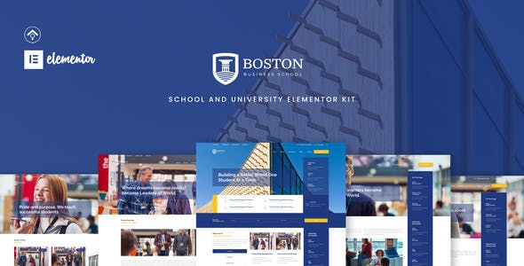 Boston - School & University Elementor Template Kit