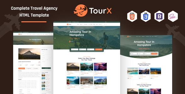 TourX - Travels Tourism Agency HTML Template - Travel Retail
