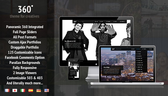 360 - Panoramic WordPress Theme   - Creative WordPress