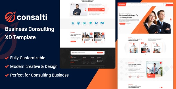 Consalti - Consultancy & Business XD Template - Business Corporate