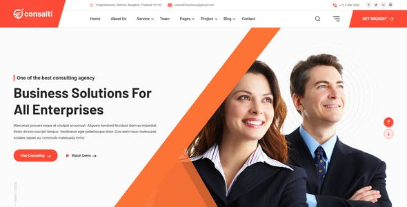 Consalti - Consultancy & Business XD Template