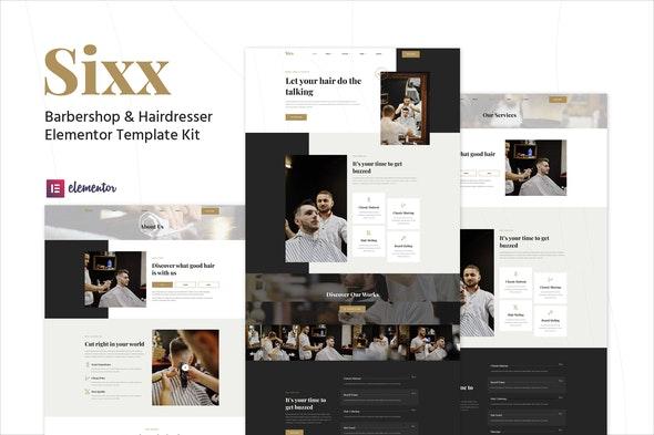 Sixx - Barbershop & Hairdresser Elementor Template Kit - Fashion & Beauty Elementor