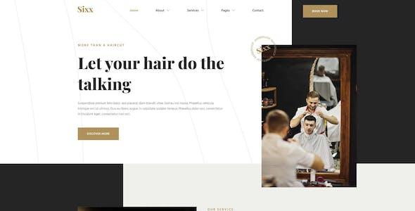 Sixx - Barbershop & Hairdresser Elementor Template Kit