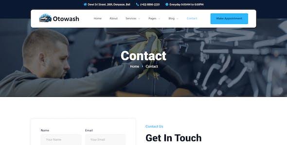 Otowash – Car Washing & Cleaning Services Elementor Template Kit